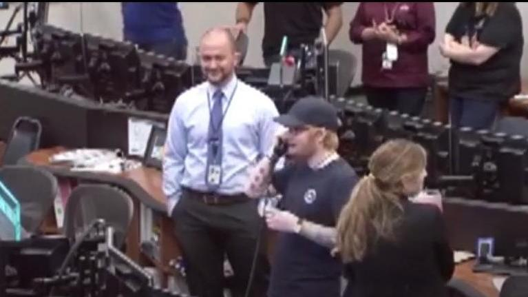 Galaktische Aktion: Ed Sheeran ruft im All an und quatscht mit Astro-Alex