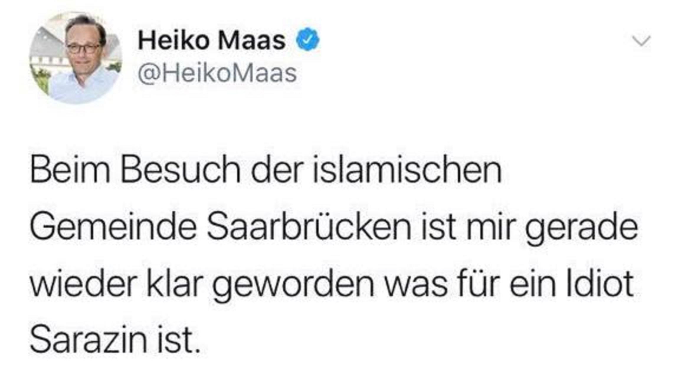Opfer des eigenen Gesetzes? Verwirrung um verschwundenen alten Heiko Maas-Tweet