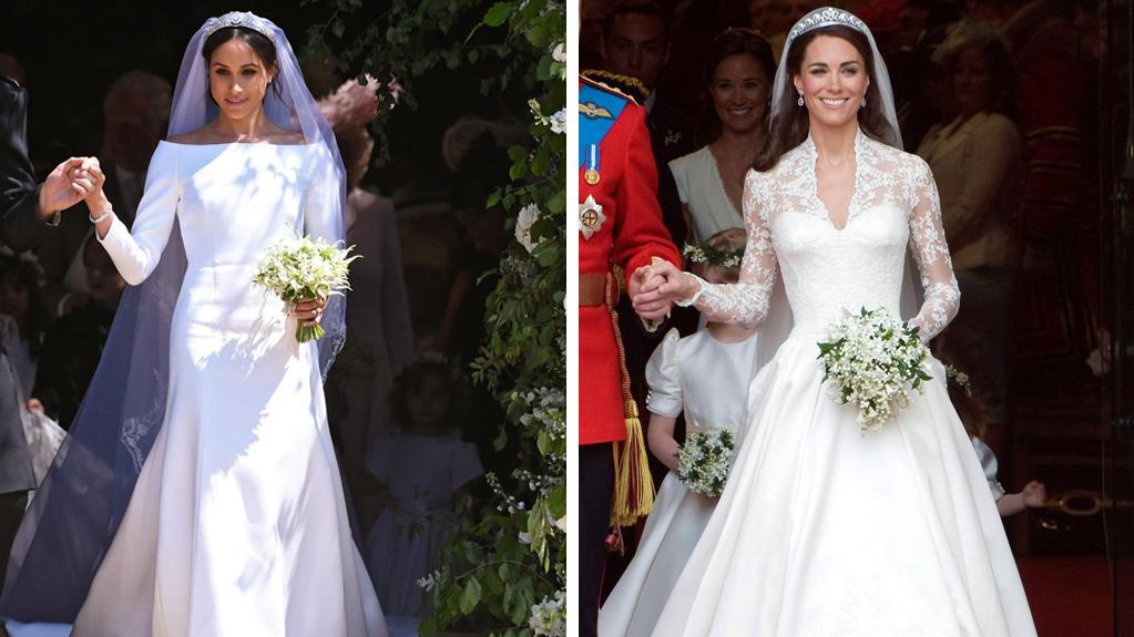 Herzogin Meghan: Mit diesem Givenchy-Brautkleid hat sie alle überrascht