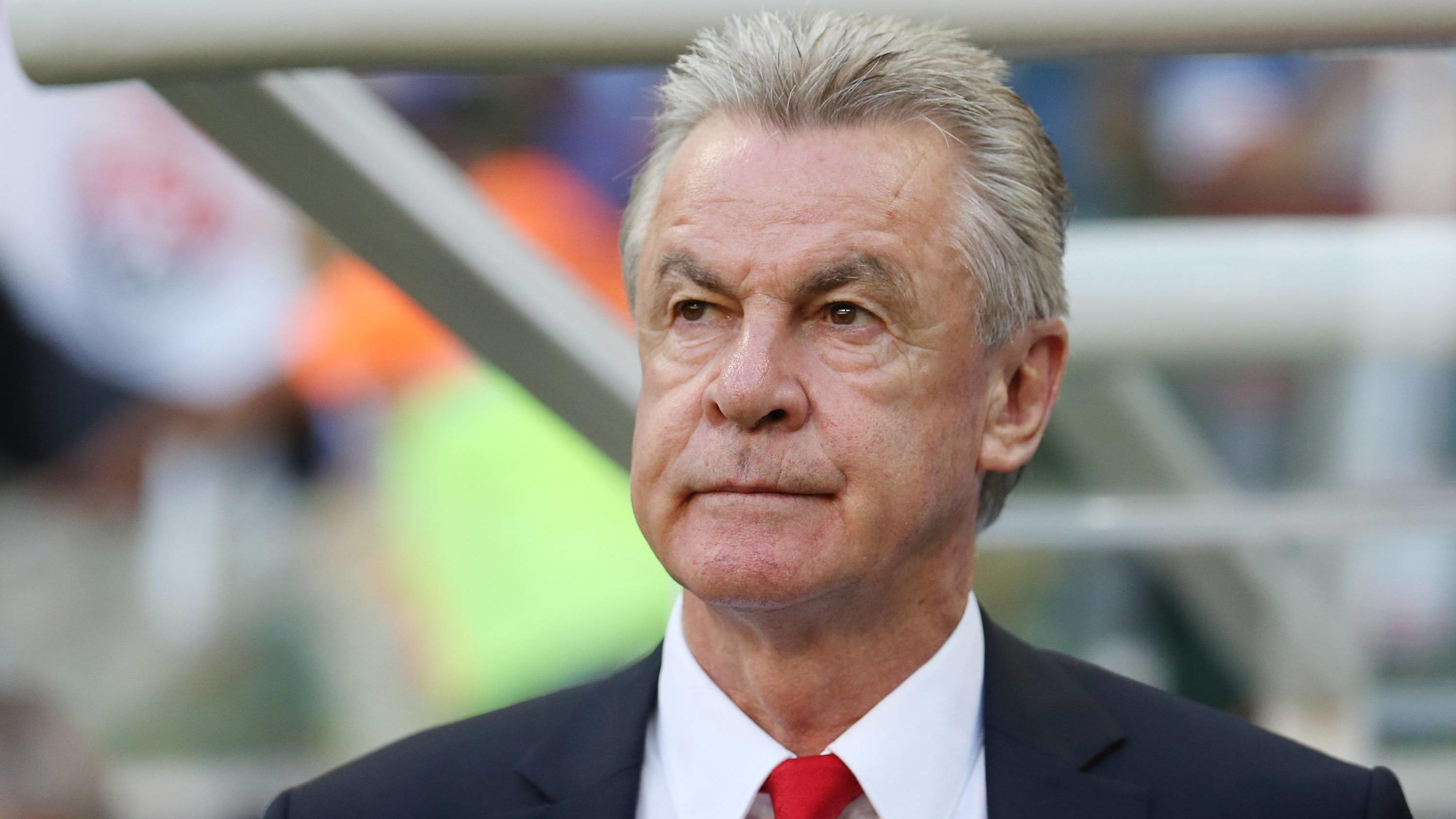 (140620) -- SALVADOR, June 20, 2014 (Xinhua) -- Switzerland s head coach Ottmar Hitzfeld is seen during a Group E match between Switzerland and France of 2014 FIFA World Cup at the Arena Fonte Nova Stadium in Salvador, Brazil, on June 20, 2014.(Xinhu