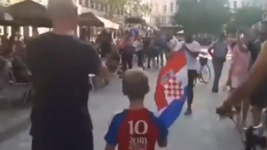 Kleiner Kroatien-Fan in Belgien