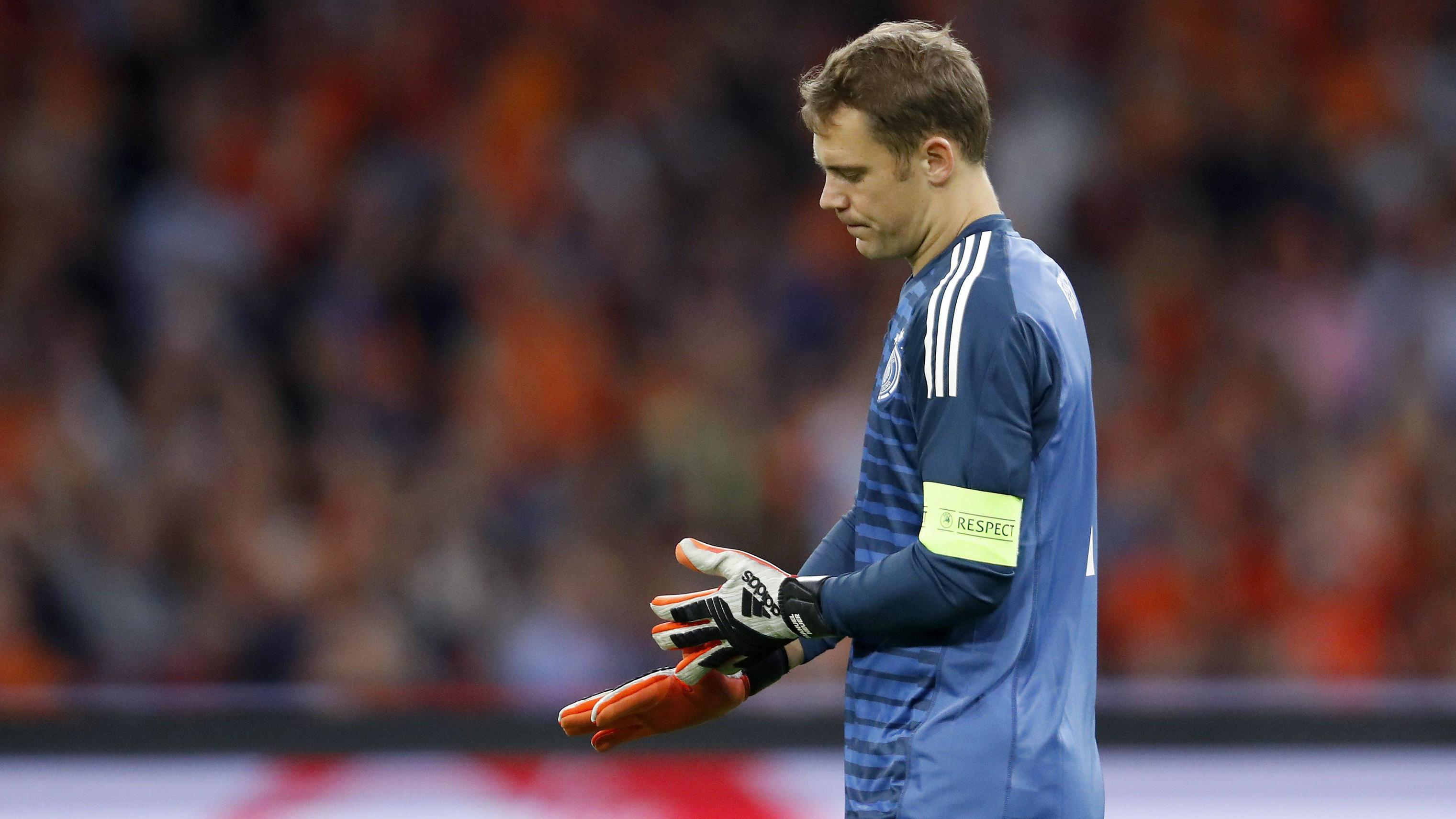 Germay goalkeeper Manuel Neuer during the UEFA Nations League A group 1 qualifying match between The Netherlands and Germany at the Johan Cruijff Arena on October 13, 2018 in Amsterdam, The Netherlands UEFA Nations League A group 1 2018/2019 xVIxVIxI