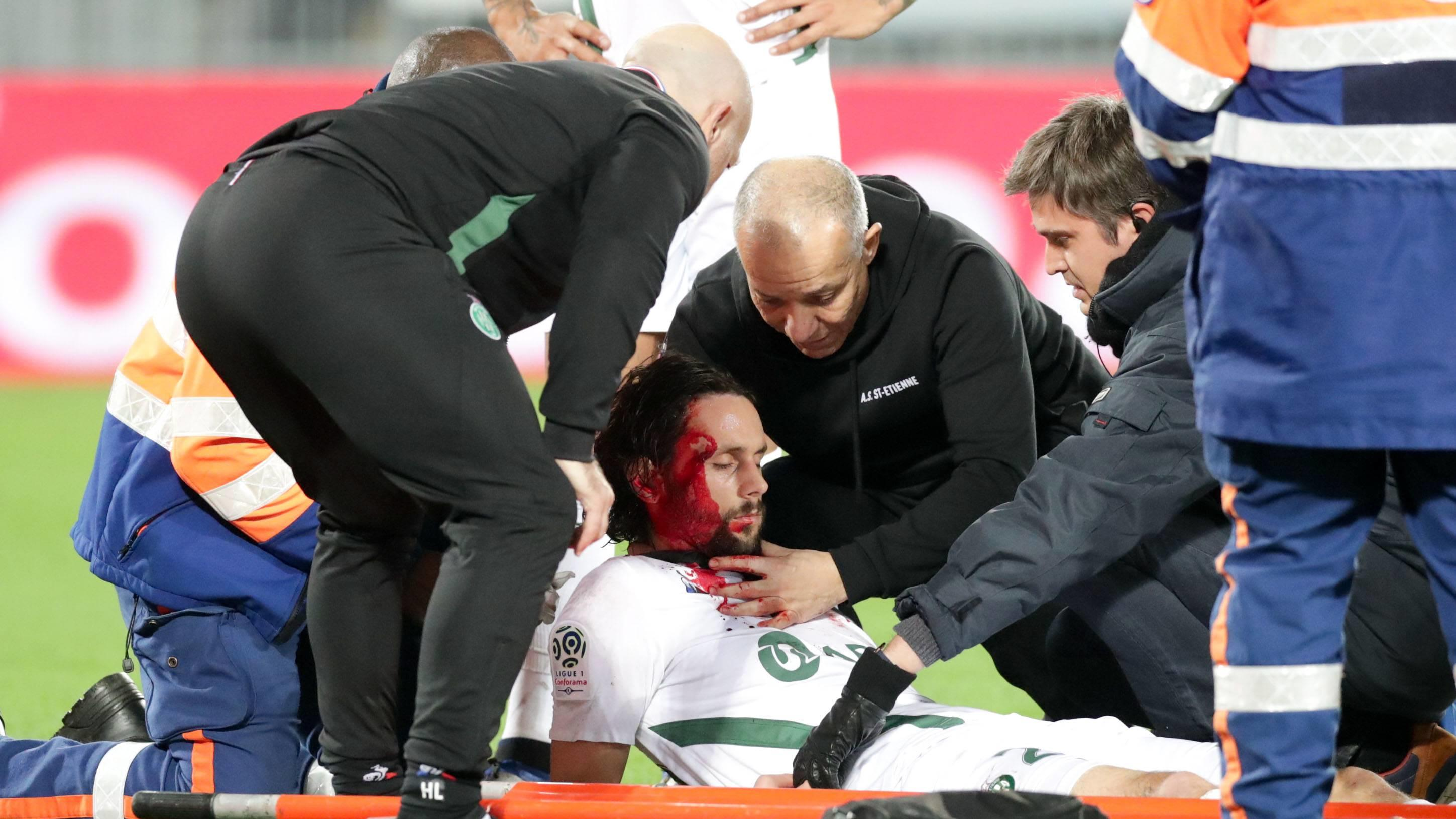 28 NEVEN SUBOTIC (ASSE) - BLESSURE - SANG FOOTBALL : Bordeaux vs Saint Etienne - Ligue 1 Conforama - 05/12/2018 FEP/Panoramic PUBLICATIONxNOTxINxFRAxITAxBEL