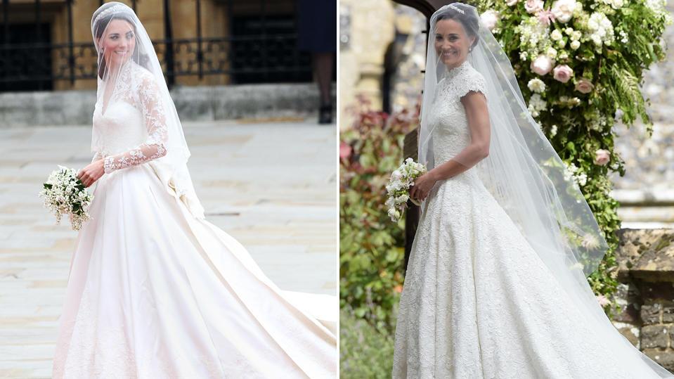 Atemberaubend Kate Middleton Hochzeitskleid Zurück Bilder ...