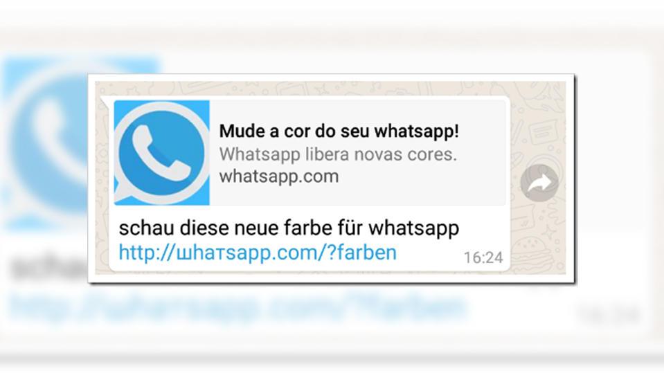 neue farbe f r whatsapp achtung dieser whatsapp kettenbrief ist eine virenfalle. Black Bedroom Furniture Sets. Home Design Ideas